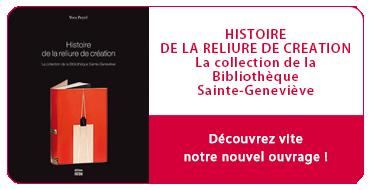 La reliure de création - bibliothèque sainte Geneviève